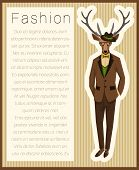 Fashion dressed up deer