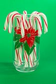 Candy Canes In Christmas Glass