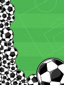 background soccer balls