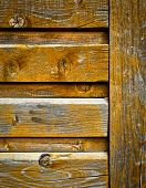 Old Wooden The Panel Ocher Color