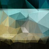 eps10 vector triangular geometric elements business concept background