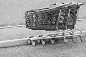 Black White Baskets-carts For Goods