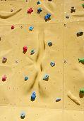 Climbing Holds On An Artificial Climbing Wall