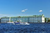 View From The Neva River At The Hermitage Museum, Saint Petersburg