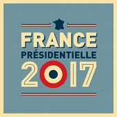 French presidential election poster in 2017. VEctor EPS10.