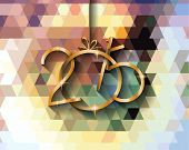 2015 New year original modern background template for invitations, seasonal cards, event posters, new year backgronds and so on.