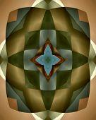 Burnished harlequin star tile poster