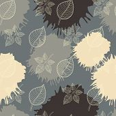 Autumn seamless pattern leaf