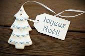 Blue Joyeux Noël As Christmas Greetings