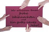 German Christmas And New Year Greetings