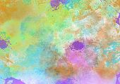 Colorful Abstract Splatter Background