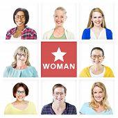 Group of Multiethnic Cheerful Beautiful Women