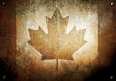 grunge metal with canada flag