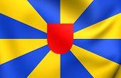 Flag Of West Flanders, Belgium.
