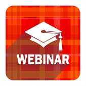 webinar red flat icon isolated