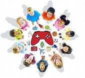 Group of Children and Play Concept