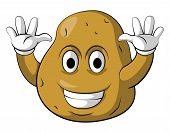 Potato Smile Character