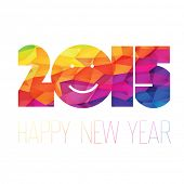 Happy New Year 2015 Greeting Colorful.
