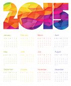 Colorful Calendar 2015 Design. Vector.