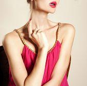 Lips Of Beautiful Woman