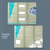 Tri-fold Brochure Template With Diamond Element