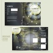 Abstract Egypt Style Design For Half-fold Brochure