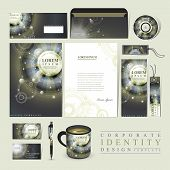 Abstract Egypt Style Design For Corporate Identity Set
