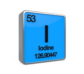 foto of neutron  - Iodine Element Periodic Table isolated on white background - JPG
