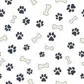 picture of hound dog  - Seamless wallpaper pattern with dog - JPG