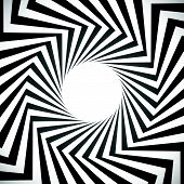picture of hypnotic  - Angular spiral background - JPG