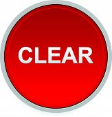 stock photo of interrupter  - Illustration of a red button with word clear - JPG
