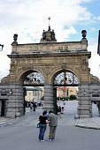 Gate at Pilsner Urquell Brewery