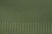 image of knitting  - close up of a green knitted background pattern - JPG