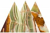 image of agate  - Onyx mineral variety of agate with alternating layers of different colors - JPG