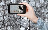 stock photo of cobblestone  - travel concept  - JPG