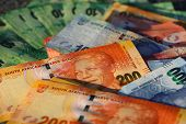 picture of possess  - Photo of different South African Rand Banknotes - JPG