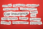 image of insurance-policy  - Car Insurance Text On Piece Of Paper Salient Among Other Related Keywords - JPG