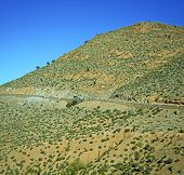 pic of atlas  - in africa morocco the atlas dry mountain ground isolated hill valley - JPG