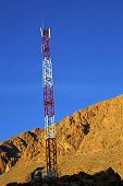 picture of utility pole  - utility pole in africa morocco energy and distribution pylon - JPG