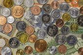 picture of shilling  - A collection of coins and notes from around the world - JPG
