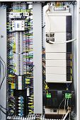image of fuse-box  - Electronics control systems in box in industry - JPG