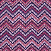 foto of knitwear  - Seamless geometric ethnic spokes knitted pattern - JPG