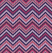 picture of knitwear  - Seamless geometric ethnic spokes knitted pattern - JPG