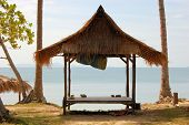 foto of beach hut  - Tropical beach hut bungalow on Ko Jum island in Thailand - JPG