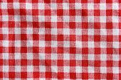 pic of texture  - Texture of a red and white checkered picnic blanket - JPG