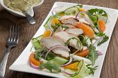 picture of southwest  - Southwest salad with sliced spiced - JPG