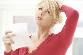 pic of fifties  - Mature Woman Experiencing Hot Flush From Menopause - JPG