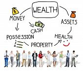 image of possess  - Wealth Money Possession Investment Growth Concept - JPG