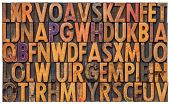 picture of punctuation  - background of vintage letterpress wood type printing blocks - JPG