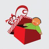 Rag-doll in open box